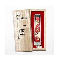 Bấm móng tay họa tiết đỏ kèm hộp quà tặng cao cấp JAPAN