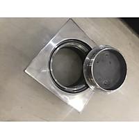 Thông tắc sàn GL SUS304, 140x140mm Ø114 ngăn mùi, xử lý bể phốt nhanh, chống han rỉ