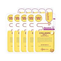 Combo 5 Mặt nạ dưỡng săn chắc da ngăn ngừa lão hóa da Mediheal Collagen Impact Essential Mask Ex 25ml x5