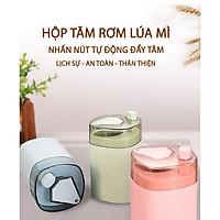 Hộp đựng tăm tự động rơm lúa mì hình trái tim, chất liệu thiên nhiên từ lúa mạch tặng kèm túi tăm-MH3011.