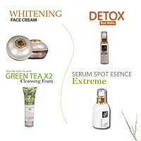 Bộ sản phẩm chăm sóc da mặt hoàn hảo Acosmetics (Sữa rửa mặt, Detox, Serum và Kem face Pháp)