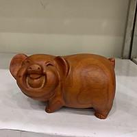 Tượng heo gỗ hương 11cm