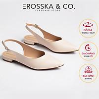 Giày Nữ Đế Bệt Mũi Nhọn Thời Trang Phối Dây Erosska EL001 (Màu Nude)