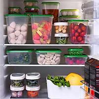 17 hộp nhựa an toàn có nắp đựng thực phẩm để tủ lạnh