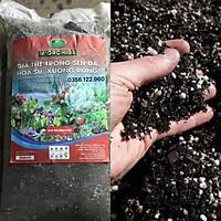 Giá thể đất trồng xương rồng, sen đá loại 1 túi 1,8kg - 20dm3