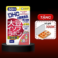 Viên Uống Mầm Đậu Nành DHC Soy Isoflavone Absorption Type + Tặng Kèm Hộp Chia Thuốc