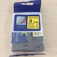 Nhãn TZ2-FX631 siêu dẻo - Chữ đen trên nền vàng 9mm - Hàng nhập khẩu