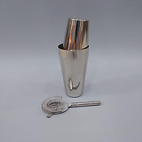 Bộ pha chế Shaker Inox 2 mảnh và chặn đá Inox