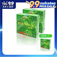 COMBO 2 HỘP Viên uống TPCN giúp ấm đường hô hấp,cải thiện các chứng ho,giảm đau rát họng - ROB-EUCA FORT-Hộp 100 viên TẶNG 1 HỘP
