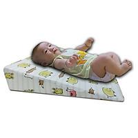 Gối chống trào ngược cho bé Babibo chống nôn trớ, ọc sữa, hỗ trợ tiêu hóa và cải thiện hô hấp, giúp trẻ tập lẫy - kích thước siêu rộng 45x60x9cm - độ dốc 11,3 độ - dành cho trẻ từ 0-36 tháng
