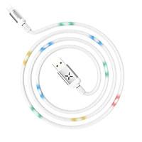 Cáp sạc nhanh Lightning, có đèn LED phát sáng khi sạc, sạc nhanh 3A Max, dành cho iPhone XS max/iPhone 11/iPhone 11 Pro max, sạc nhanh 2A Max, dài 120cm, Hoco U63 - Hàng chính hãng