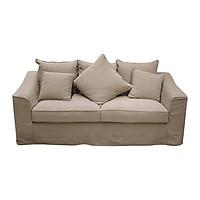 Sofa Vải 3 Chỗ Juno Lario 196 x 86 x 84 cm (Kem)