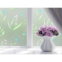 Cuộn 5met giấy dán kính Cỏ Hoa lá khổ dài 5met x rộng 60cm