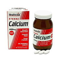 HealthAid Strong Calcium 600mg 60 viên - Viên Uống Bổ Sung Canxi Giúp Xương Chắc Khỏe