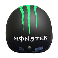 Combo Mũ Bảo Hiểm 1/2 Nửa Đầu Monster + Chong chóng + Kính phi công chống bụi, chống nắng