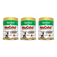 Bộ 3 Lon Sữa Nucalci Gold bổ sung canxi cho người từ 51 tuổi trở lên - 800g
