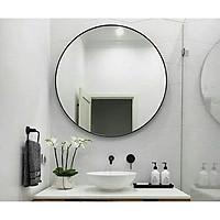 Gương tròn trang điểm viền đen