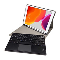 Bàn phím Bluetooth kèm bao da cho iPad mini 4/5 tính hợp touchpad và khe để bút Aturos RK405C - Hàng chính hãng