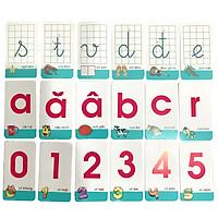 Bộ 42 Thẻ Học Nhận Biết Chữ Cái Và Số Đếm Cho Bé