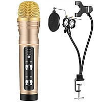 Bộ chân đế kẹp và Micro C25 thu âm karaoke liektream trên điện thoại có autotune