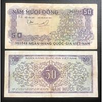 Tiền xưa Việt Nam, tờ 50 đồng Hoa văn dây leo tím