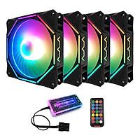 Combo 4 Quạt + Hub khiển Coolmoon RGB V10 - Hàng nhập khẩu