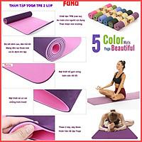 Thảm Tập Yoga 2 Lớp FUNU IN Hoa Văn- Giao Màu Ngẫu Nhiên- Chính Hãng