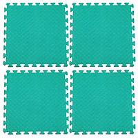 Bộ 4 tấm Thảm xốp lót sàn an toàn Thoại Tân Thành - màu xanh ngọc (60x60cm)
