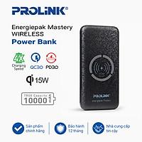 Pin sạc dự phòng không dây chính hãng PROLiNK -  PPB1005 BLK 10000mAH thích hợp cho iPhone/Samsung/Sony