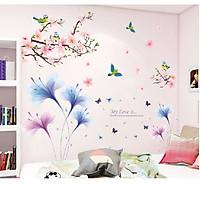 Decal dán tường đẹp combo hoa - Trang trí tết sang trọng