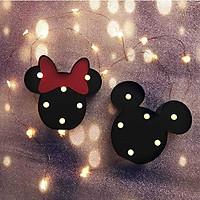 Đèn LED ngủ hình Chuột Mickey - Đen