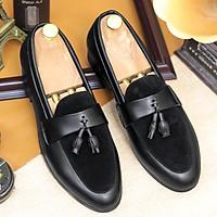 Giày Tây Nam,Giày Lười Nam,Giày Da Nam chuông mặt trên da lộn mã G014
