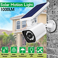Solar Powered PIR Motion Sensor 8 LED 1000LM Dummy Fake CCTV Waterproof IP66 Security Simulation Surveillance Camera Street Wall Light Lamp Outdoor Garden
