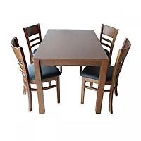 Bộ bàn ăn CABIN 4 ghế (nâu nhạt)