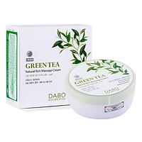 Kem massage căng cơ mặt trà xanh thảo dược DABO GREEN TEA CREAM cao cấp Hàn quốc (200ML) Kèm bông