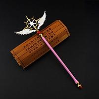 Mô hình mini quyền trượng Sakura Cardcaptor màu hồng