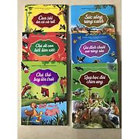 combo 06 cuốn truyện đồng thoại: gia đình chuột nơi rừng sâu, chú thỏ bay lên trời, con sói ăn củ cà rốt, chú dê biết làm xiếc, quạ học đòi chim ưng, sức sống rừng xanh