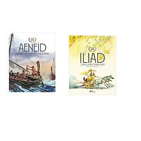 Combo 2 cuốn sách: Thần thoại vàng: Aeneid những cuộc phiêu lưu của Aeneas +  Iliad cuộc chiến thành Troy