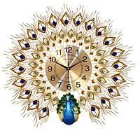 Đồng hồ treo tường trang trí chim công cỡ lớn (DNS10)