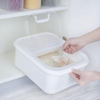 Thùng đựng gạo thông minh nắp bật  kèm ca đong (6kg) - Hàng Nội Địa Nhật