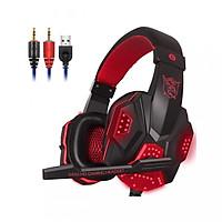 Tai nghe chuyên game thủ trùm đầu Plextone PC780 - đèn LED - Có Mic - Headphone gaming - Hàng Nhập Khẩu