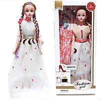 Hộp búp bê barbie kèm 1 áo đầm, giày, phụ kiện búp bê cho bé (giao mẫu ngẫu nhiên)