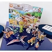 Đồ chơi lắp ráp -Set 8 Lắp ráp mô hình Khủng long cùng  8 lắp ráp mô hình người - 205 chi tiết