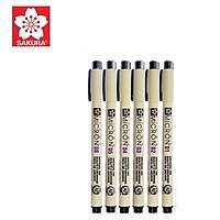 Bộ 6 bút line đi nét chuyên nghiệp Sakura Pigma  Set (micron 01 02 03 04 05 08)