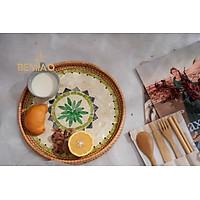 Khay mây khảm trai - Khay khảm trai decor - khay cafe - đồ thủ công mỹ nghệ