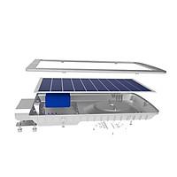 Đèn đường năng lượng mặt trời 15W Model: CSD02SL/15W Chính hãng Rạng Đông, Tích hợp cảm biến ánh sáng + Remote, chống nước