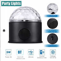 LED Party Lights Bluetooth Sound Activated Disco Ball Strobe Light with USB, 9 Colors and 4 Modes, Black DJ Lights for Stage Lights Festival Bar Club Wedding