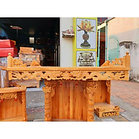Bàn thờ treo tường gỗ gõ đỏ ngang 80 cm