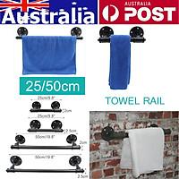 2cm/25cm Industrial Steampunk Bath Towel Rail Rack Holder Water Pipe Wall Mounted
