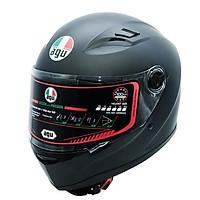 Mũ bảo hiểm fullface AGU Đen Trơn - Tặng túi đựng nón thương hiệu